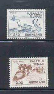 Greenland Sc 146-7 1981 hunting seals stamp set