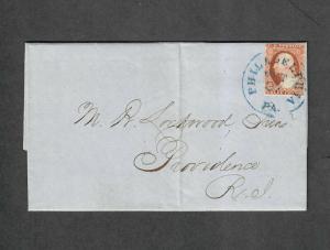 US Sc#11a Experimental Orange Brown Pos 69R1L Amonette Signed 1857, Cv. $700