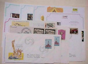 LUXEMBOURG  16 DIFF.  8 ARE CHRISTMAS CARD FDC 1955/2000