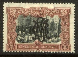MEXICO 463, 50c VILLA MONOGRAM REVOLUT OVPERPRINT. UNUSED, H OG. F-VF.