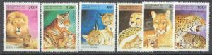 Benin 816-21 MNH Wild cats SCV4.20