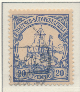 German South West Africa Stamp Scott #16, Used - Free U.S. Shipping, Free Wor...