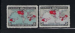 CANADA SCOTT #85-86 1898 IMPERIAL POSTAGE ISSUE - MINT HINGED
