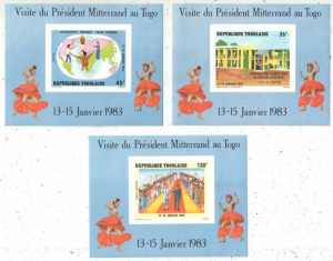 STAMP STATION PERTH Togo #1158a-1163a YTBF167-72 MNH S/S CV$9 Visit of French Pr
