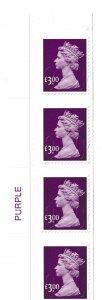 SGU2915 £3.00 Purple corner margin colour strip No Source code No date code X 4