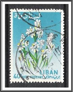 Lebanon #C394 Airmail Flowers Used