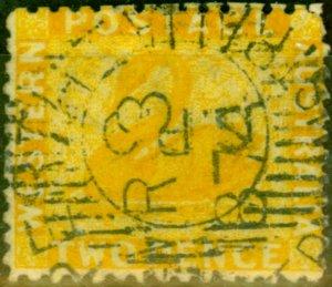 Western Australia 1864 2d Yellow SG55 Fine Used