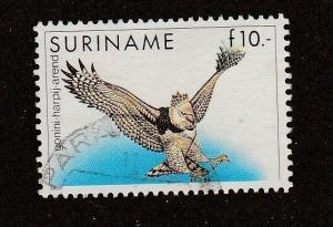 Surinam stamp, Scott #729, used, high cat, eagle, bird, #M543