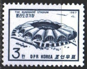 North Korea. 1987. 2810. Stadium, architecture. MNH.