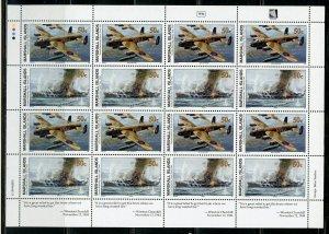 MARSHALL ISLANDS WW II TIRPITZ SUNK SCOTT #498/99  SHEET MINT NH
