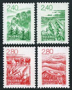 France 2479-2482, MNH. Scenes. Forest, Massif, Wetlands, Volcanoes, 1995