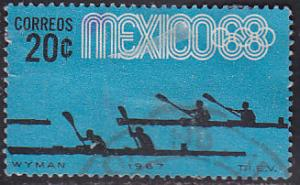 Mexico 981 Hinged Used 1967 Olympic Canoeing