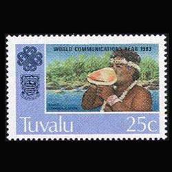 TUVALU 1983 - Scott# 212 Communication 25c NH