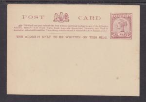 Victoria H&G 8 mint 1p Postal Card, lilac on creme, VF