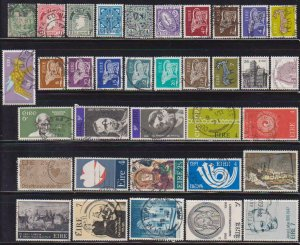 Luck of the Irish - 35 Different F-VF Used Ireland Stamps - I Combine S/H