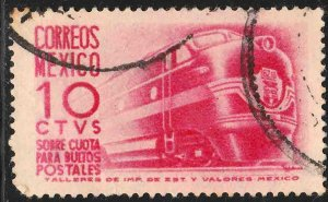 MEXICO Q9 10cents 1950 Definitive 2nd Printing wmk 300 USED. VF. (1075)