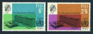 Fiji 224-225,MNH.Michel 196-197. WHO New Headquarters,1966.