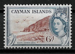 1955 Cayman Islands Sc143 Bluff 6d MHR