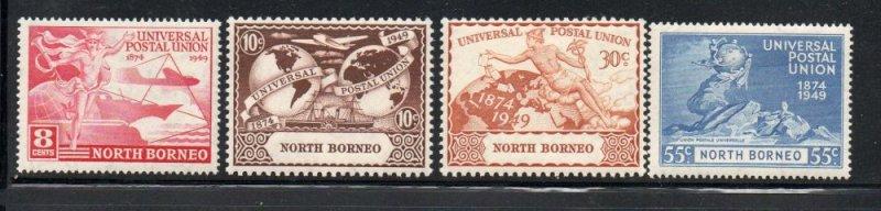 North Borneo Sc 240-43 1949 UPU Anniversary stamp set mint