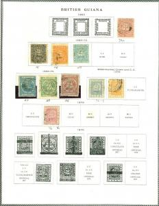 EDW1949SELL : BRITISH GUIANA Mint & Used collection with many Better. Cat $685.