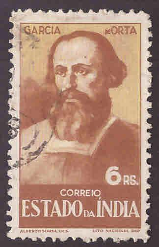 Portuguese India Scott 466  Used lightly cancelled stamp