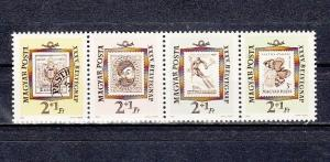 Hungary, Scott cat. B225-B228. Stamp on Stamp issue. Butterfly & Skier shown.