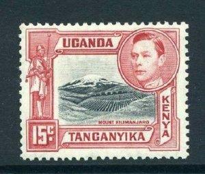 Kenya Uganda Tang 1938 KGVI   15c p13¼ SG 137 mint KUT CV £45