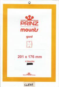 PRINZ CLEAR MOUNTS 201X176 (4) RETAIL PRICE $10.50