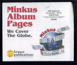2000 All American Part 4 Booklet Panes Minkus Stamp Album Supplement Pages