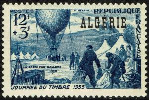 Algeria #B82  Unused - Stamp Day (1955)