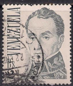 Venezuela Bs2 'Bolivar' by J. M. Espinosa Definitive used stamp ( E1159 )