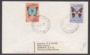 PAPUA NEW GUINEA 1969 cover to Goroka - RELIEF No.4 used at BUAMBUB.........M223