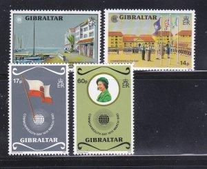 Gibraltar 443-446 Set MNH Commonwealth Day (C)