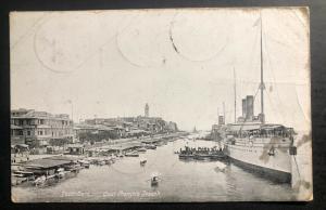 1910 Port Said Egypt RPPC Postcard Cover To Berlin Germany Francois Joseph Dock