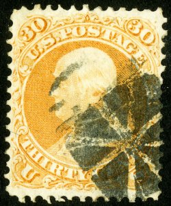 US Stamps # 71 Used XF Choice+fresh Scott Value $200.00