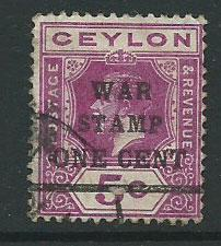 Ceylon Edward VII  SG 336   Used