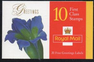 Great Britain Sc 1722a 1997 Greetings Flower stamp booklet mint NH