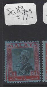 MALAYA SELANGOR  (P0509B)  SULTAN  $1.00 SG 83  MOG