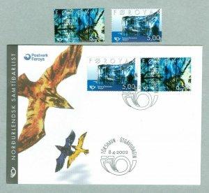 Faroe Islands. Complete Set 2 Stamp 2002 Mnh. + FDC. Nordic Art. 5.00 -  6.50 Kr