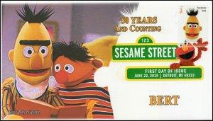 19-156, 2019, Sesame Street, Digital Color Postmark, FDC, Bert, 50 Years