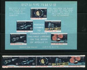 Korea Apollo 11 Scott 663a 663b MNH!