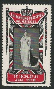 Luisenburg Festspiel, Wunseidel, Germany, 1910 Poster Stamp, Cinderella Label