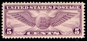 US Stamp #C12 5c Winged Globe Perf 11 MINT NH SCV $17.50