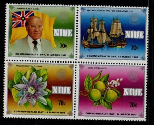 Niue Sc 371a 1983 Commonwealth Day stamp block of 4 mint NH