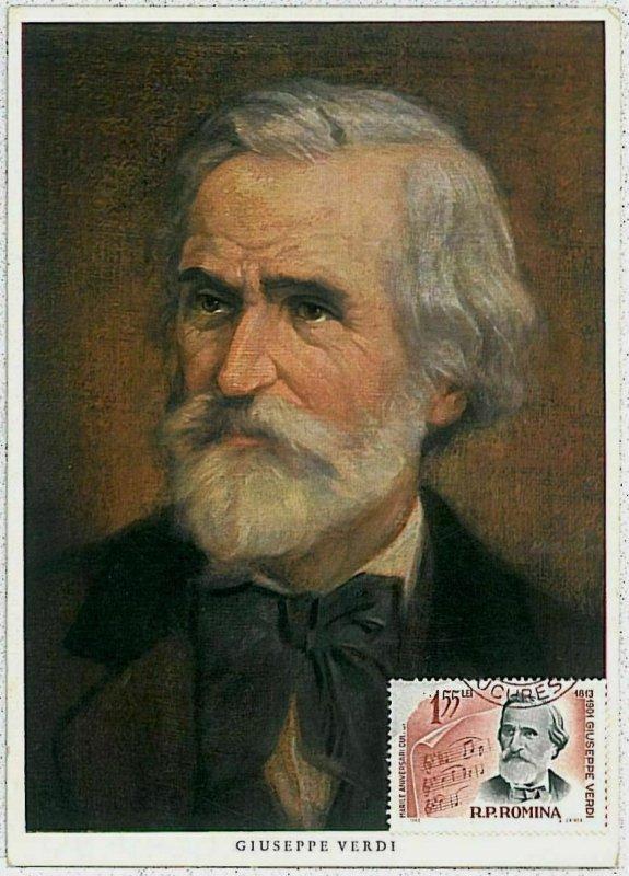 32571  - ROMANIA - POSTAL HISTORY -  MAXIMUM CARD - Music  GIUSEPPE VERDI