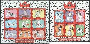 PK398-399 GAMBIA DISNEY CARTOON 101 DALMATIANS PETS DOGS 2KB MNH