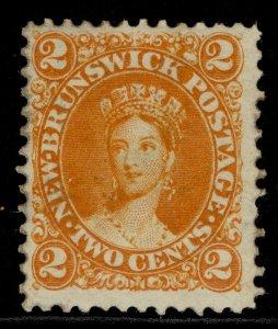 CANADA - New Brunswick QV SG10, 2c orange, M MINT. Cat £38.
