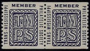 Trans - Mississippi Philatelic Society TMPS Cinderella Coil Poster Stamps MNH