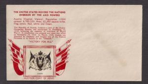 OVERRUN COUNTRIES: Austria CROSBY cachet only (no stamps) Mint, wrinkle
