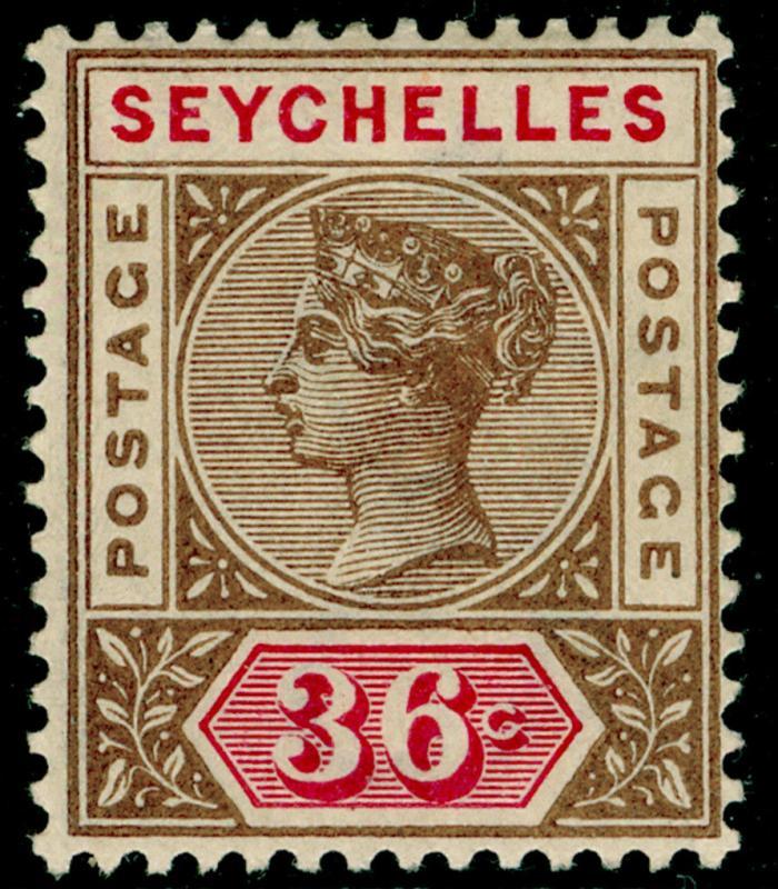SEYCHELLES SG32, 36c brown & carmine M MINT. Cat £45.
